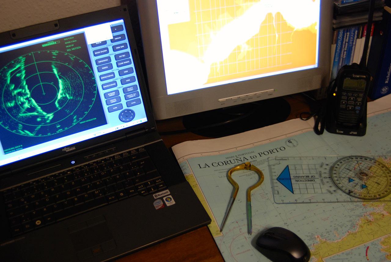 Radar, elektronische Navigation, Seminar, Plotter, Navigationssoftware, Furuno, B&G, Raymarine, MaxSea, Time Zero, Fugawi, Navionics, Seamap, OpenCPN, Raspberry